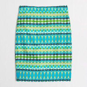 {j.crew} the pencil skirt - basketweave print
